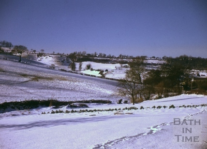 Kelston Round Hill from near Brookside Cottages 1963