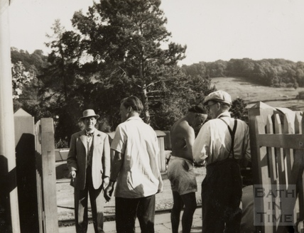 Filming the Titfield Thunderbolt, Monkton Combe 1952