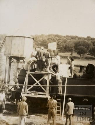 Filming the Titfield Thunderbolt, Monkton Combe 1952