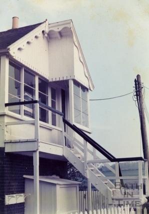 The signalbox, Wellow 1970s