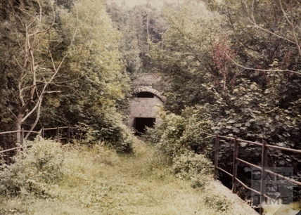 Northern portal of Combe Down Tunnel on the Somerset & Dorset Joint Railway, Bath 1970s