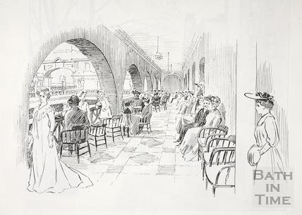 The North Terrace, Roman Baths Promenade, Bath c.1890-1920