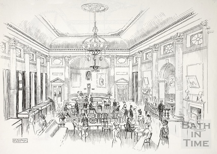 Inside the Pump Room, Bath c.1890-1920