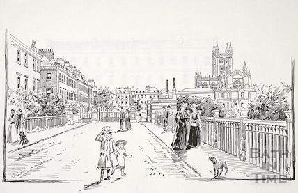 North Parade from the bridge, Bath c.1890-1920