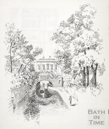 Kennet House on the Kennet and Avon Canal, Bathwick, Bath c.1890-1920
