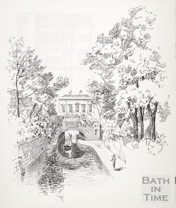 Kennet House on the Kennet and Avon Canal, Bathwick, Bath c.1890-1920