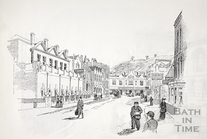 Manvers Street and vista to the railway station, Bath c.1890-1920
