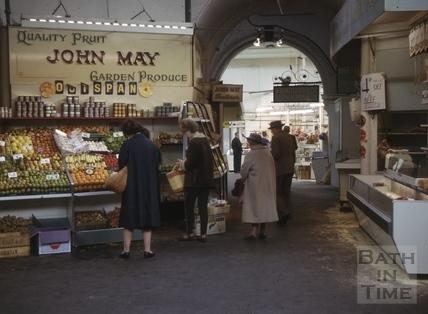 Bath Provision Market, Guildhall, Bath 1965