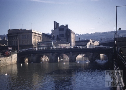 Old Bridge from the west, Bath 1961