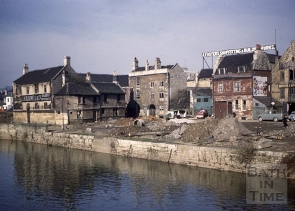 West end of the Broad Quay, Bath 1961