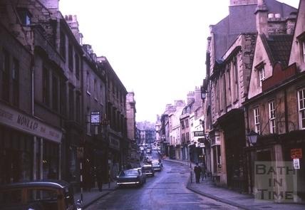 Broad Street and Saracen's Head, Bath 1964