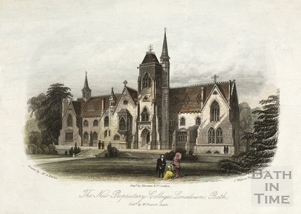 The New Proprietary College, Lansdown, Bath c.1858