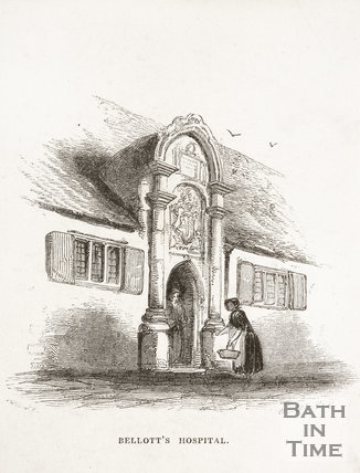 Bellott's Hospital, Beau Street, Bath 1848