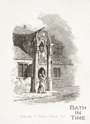 Doorway of Bellott's Hospital, Beau Street, Bath c.1824?