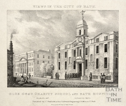 Blue Coat Charity School and Bath Hospital, Bath c.1830