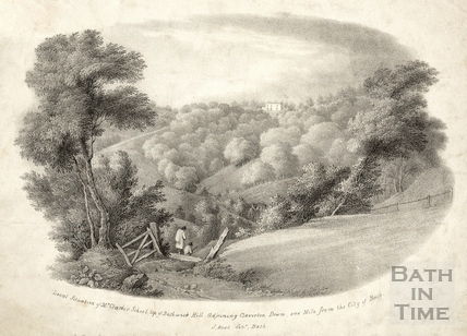 Local situation of Mr. Clarke's School, Bathwick Hill, Bath c.1830