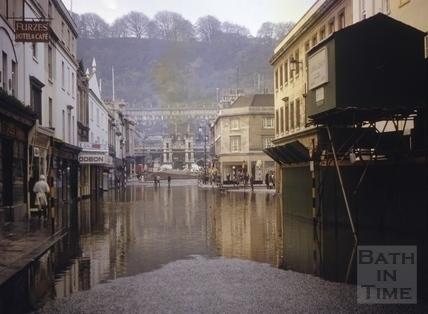 Floods, Southgate Street, Bath 1963