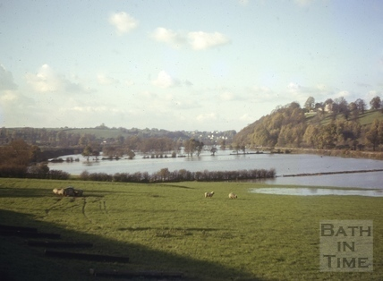 Floods, Newton Meadows, Bath 1963