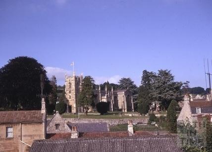 All Saint's Church from Greenbank Gardens, Weston, Bath 1968
