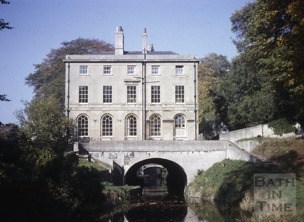 Cleveland House and Kennet and Avon Canal, Sydney Gardens, Bath 1963
