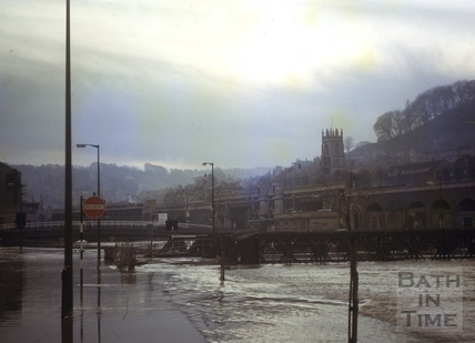 Floods, Broad Quay, Bath 1963