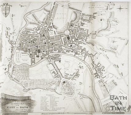 A New and Correct Plan of the City of Bath from a recent survey by B. Donne 1810
