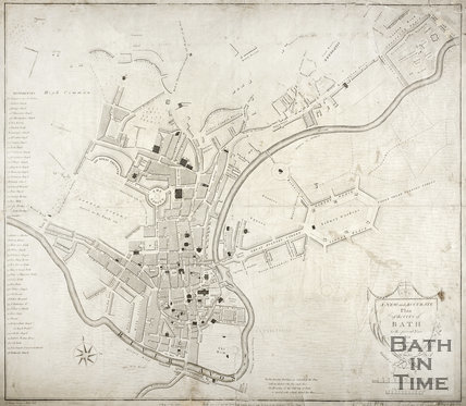 A New and Accurate Plan of the City of Bath to the present year 1801