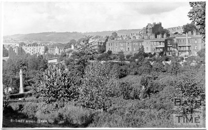 Sydney Buildings view across the Kennet and Avon Canal, Bath c.1930