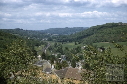View over Limpley Stoke towards Dundas Aqueduct c.1965