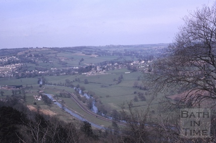 View towards Bathford and Bannerdown c.1965