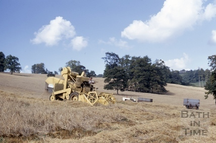 Harvest at Midford Castle 1968