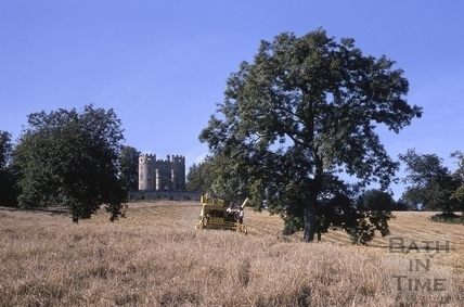 Midford Castle at harvest time 1968
