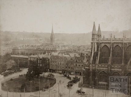Orange Grove from the Guildhall, Bath 1895
