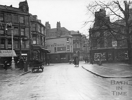 Kingsmead Square from New Street, Bath c.1920