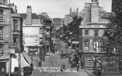 Kingsmead Square and Westgate Street, Bath c.1914