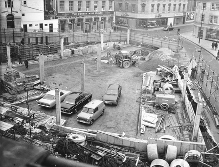 Seven Dials car park, Kingsmead Square, Bath 1973