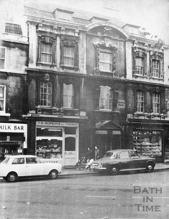 West side, Kingsmead Square, Bath 1965