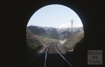 View towards Midford goods yard 1966