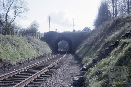Long Arch Bridge from the north, Somerset and Dorset railway, near Midford 1966