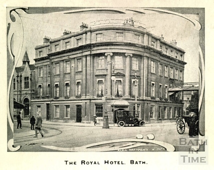 The Royal Hotel, Railway Place, Bath c.1930