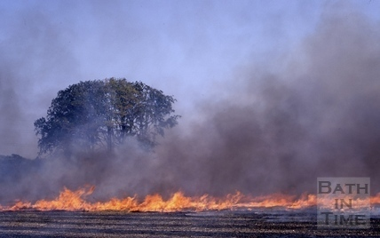 Stubble burning in the Midford Valley 1968