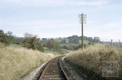 The Somerset and Dorset line below Midford Castle 1966