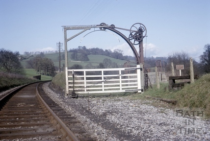 Crane at Midford Goods Yard 1966