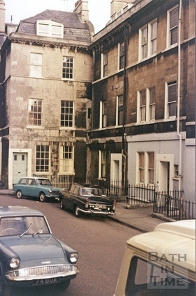 The top of Portland Place, Bath before demolition c.1972