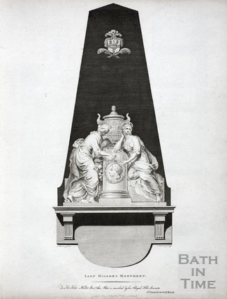 Lady Miller's Monument, Bath Abbey, Bath 1786