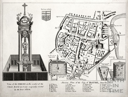 Ancient Plan of the City of Bath from Guidot 1791