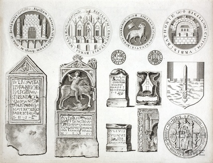 Various relics from Bath and Somerset 1791