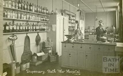 The Dispensary, Bath War Hospital, Bath c.1916