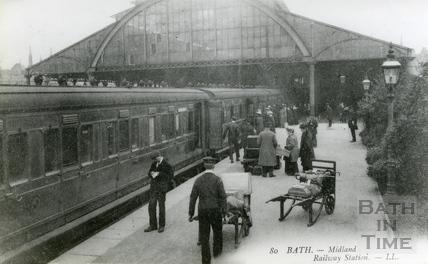 Midland Railway Station, Green Park, Bath c.1905