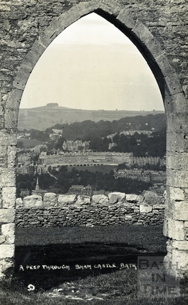 A Peep through Sham Castle, Bath c.1922